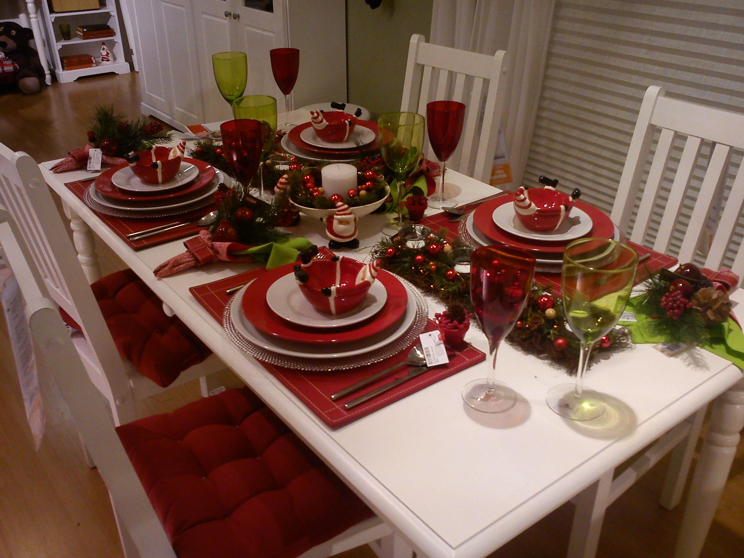 Especial natal decora o da mesa me d uma luz - Fotos de mesas decoradas ...