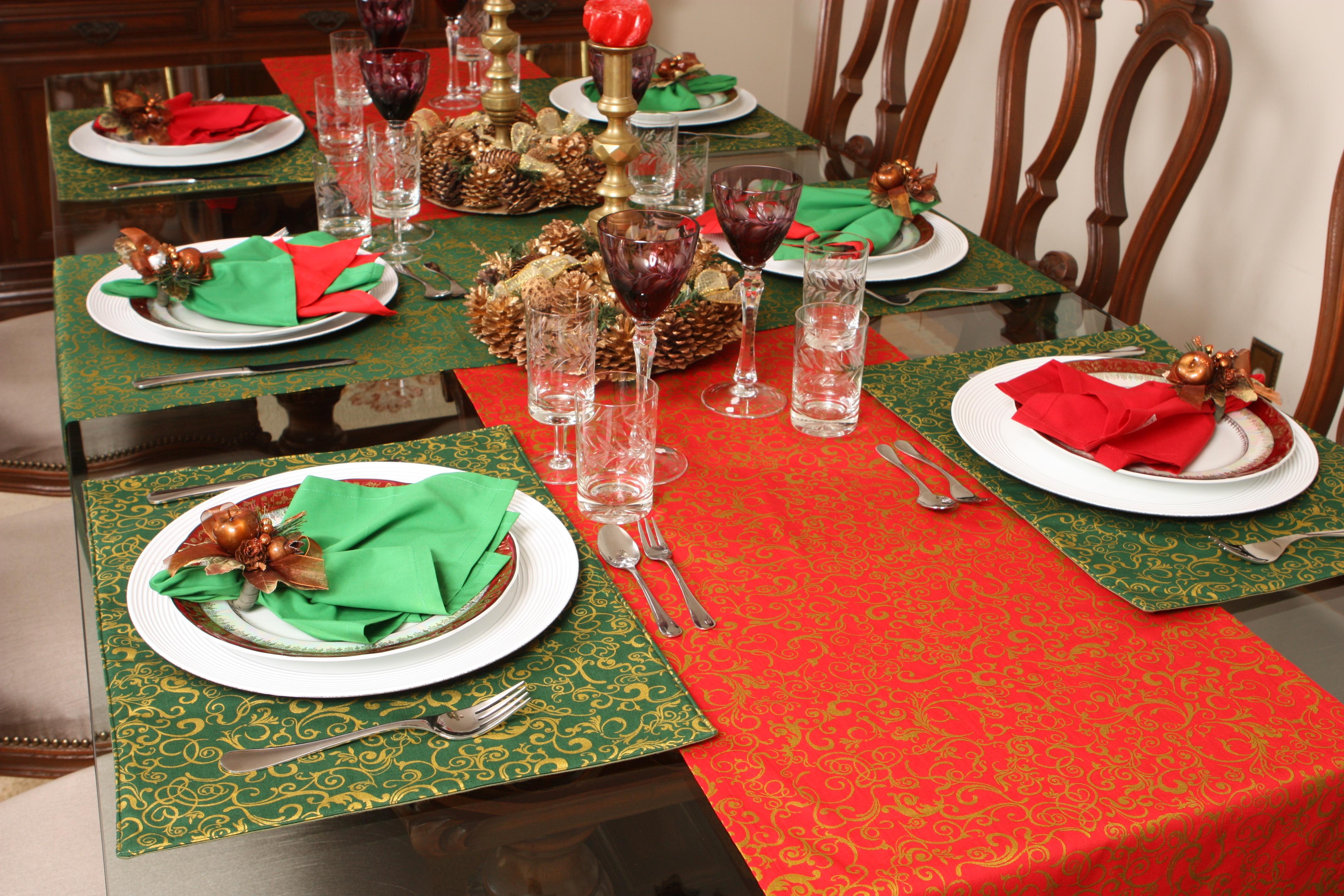 Especial Natal ~ Decoraç u00e3o da mesa me dá uma luz -> Decoração De Natal Para Mesa Quadrada